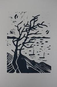 Linogravure 20x30 40€